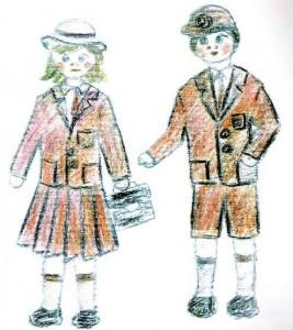 desenho meninos antigo
