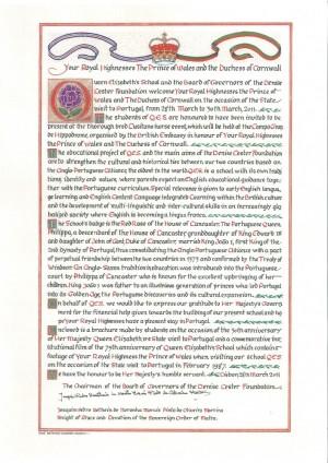 Oferta da QES a S.A.R.. o Principe Carlos