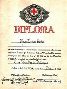 diploma cruz vermelha