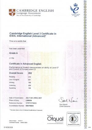 certificate Grade A (2)