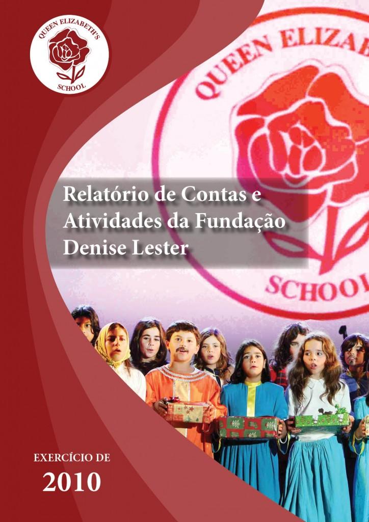 capa relatório anual atividades 2010